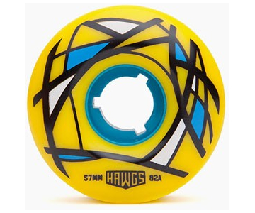 Колеса для скейтборда HAWGS Cordova 57mm 82a Yellow (4 Pcs) Skateboard Wheels